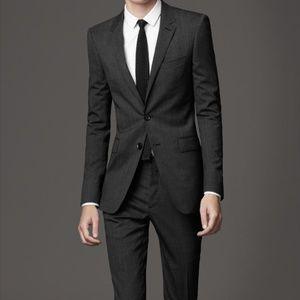 Slim Fit Charcoal Burberry 2 Piece Suit